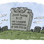 comic headstone