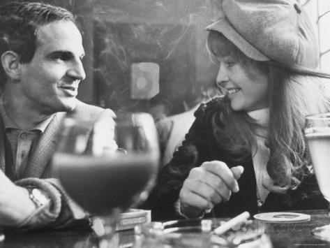 Francois Truffaut and Julie Christie